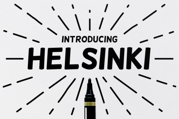 Print on Demand: Helsinki Sans Serif Font By Creative Fabrica Freebies