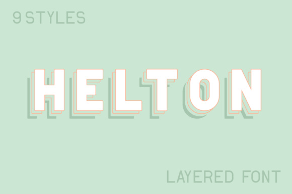 Print on Demand: Helton Display Font By Mike Hill