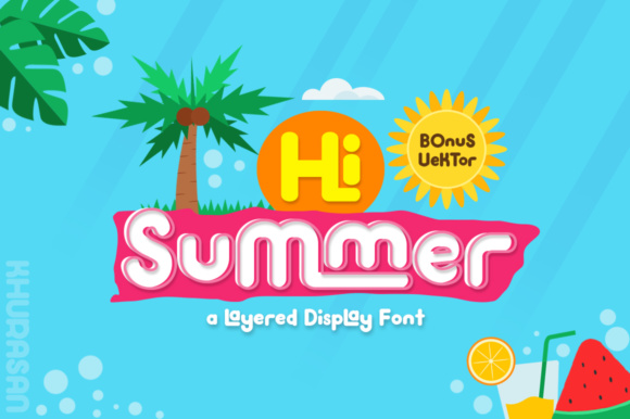 Print on Demand: Hi Summer Display Font By Khurasan