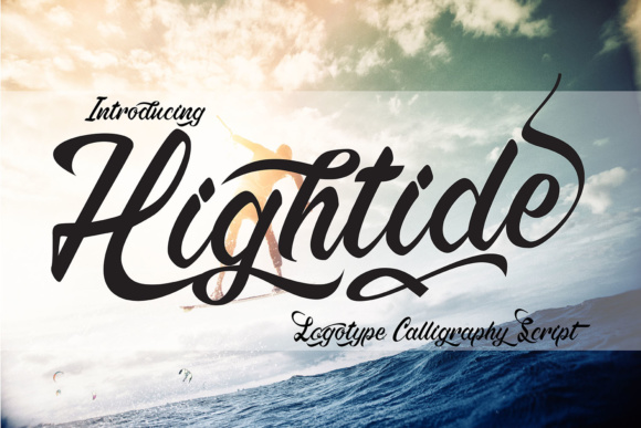 Print on Demand: Hightide Script & Handwritten Font By 38.lineart