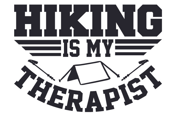 Download Free Hiking Is My Therapist Svg Cut File By Creative Fabrica Crafts for Cricut Explore, Silhouette and other cutting machines.