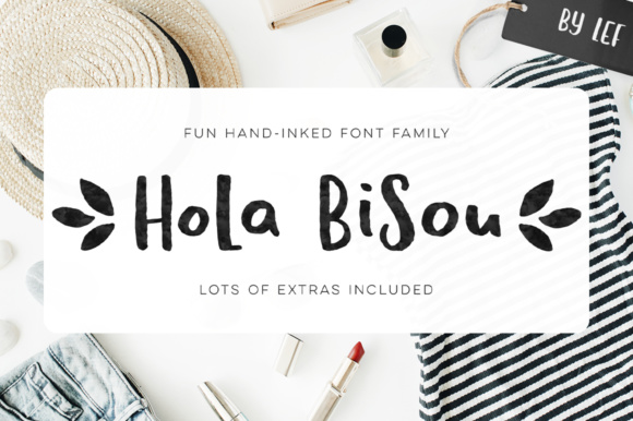 Print on Demand: Hola Bisou Family Script & Handwritten Font By By Lef