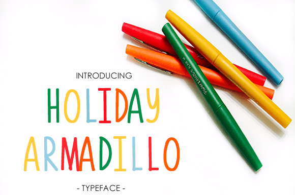 Print on Demand: Holiday Armadillo Sans Serif Font By yh.seaofknowledge - Image 1
