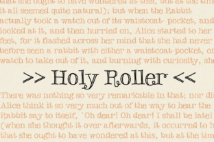 Holy Roller Font By grin3