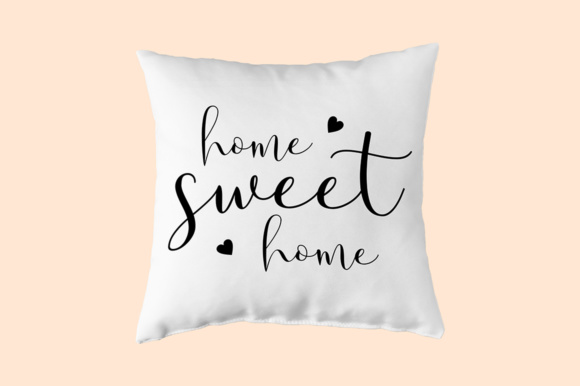 Home Sweet Home - SVG PNG EPS DXF Cutting Files Graphic By Solidtype Image 4