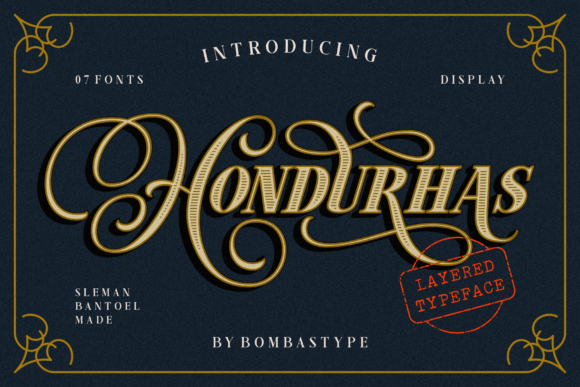 Print on Demand: Hondurhas Display Font By bombastype