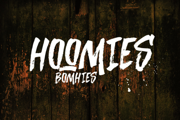 Print on Demand: Hoomies Bomhies Exhibición Fuente Por Youngtype