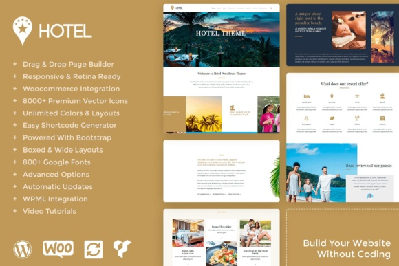 Hotel Responsive WordPress Theme Graphic By Visualmodo WordPress Themes