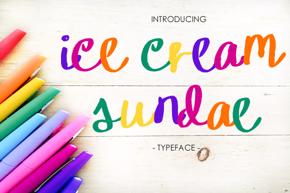 Print on Demand: Ice Cream Sundae Script & Handwritten Font By yh.seaofknowledge