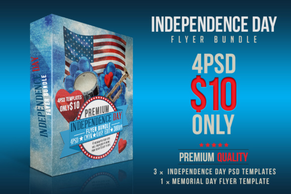 Independence Day Flyer Set Graphic by DESIGNROOM1229 - Creative Fabrica