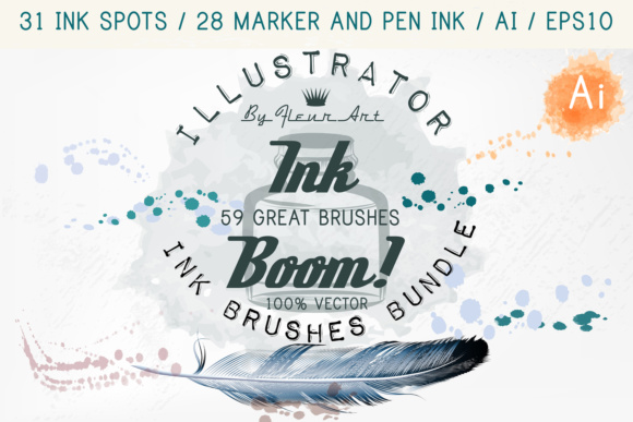 Ink Spots Brushes Graphic Brushes By fleurartmariia