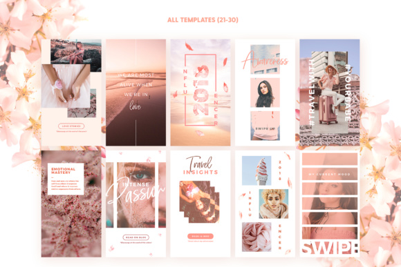 Print on Demand: Instagram Stories - Blush Emotions Graphic Print Templates By lavie1blonde - Image 5