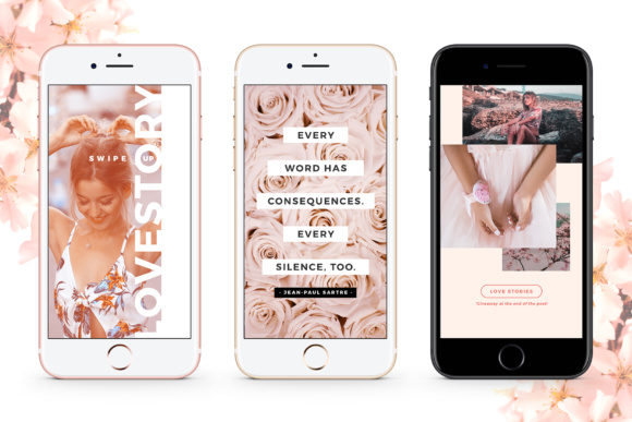 Print on Demand: Instagram Stories - Blush Emotions Graphic Print Templates By lavie1blonde - Image 7