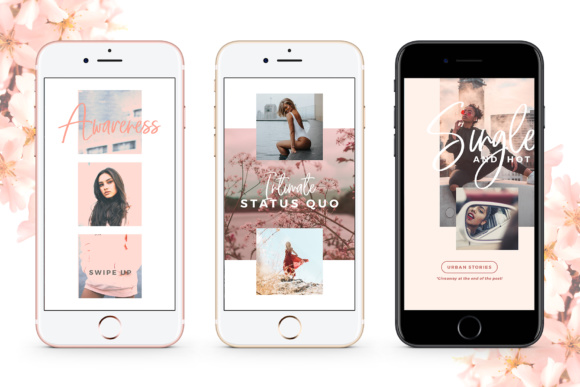 Print on Demand: Instagram Stories - Blush Emotions Graphic Print Templates By lavie1blonde - Image 8