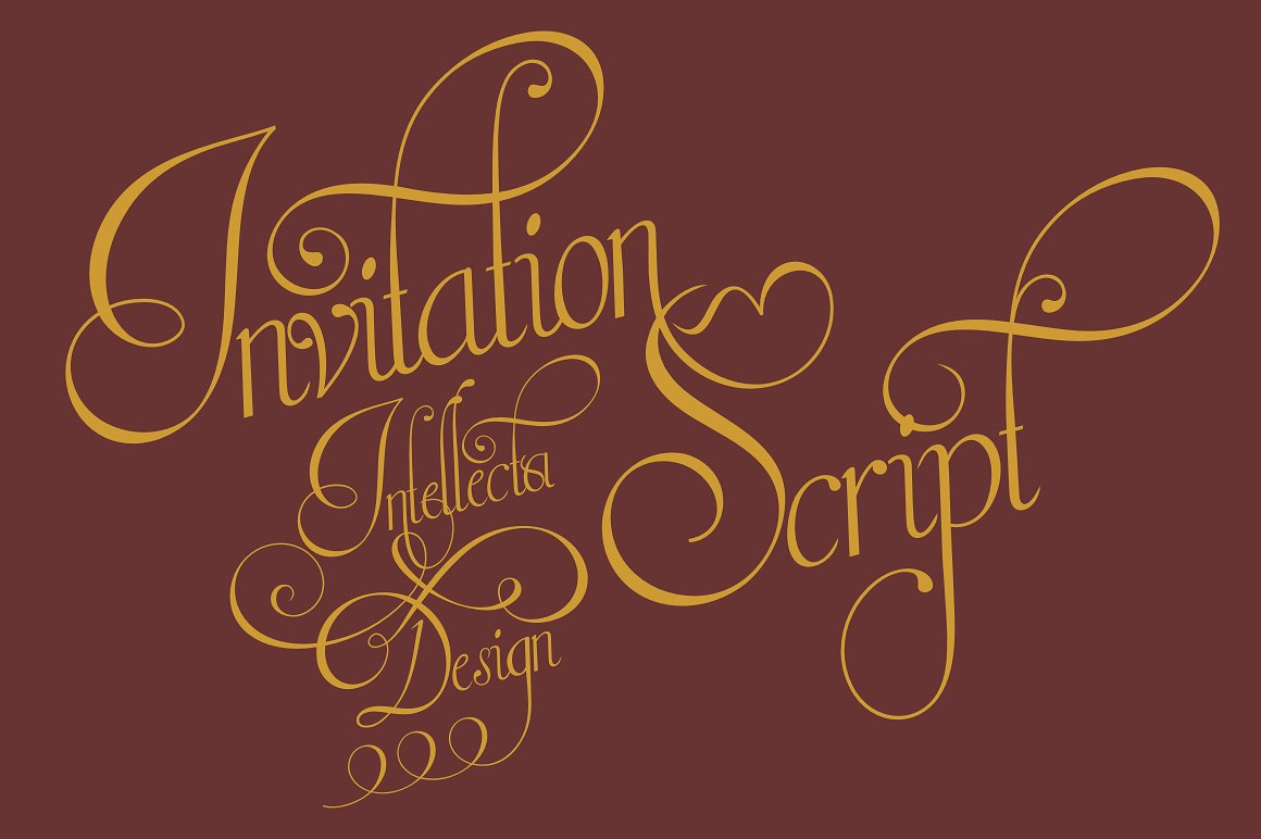 Download Free Invitation Limited Font By Intellecta Design Creative Fabrica for Cricut Explore, Silhouette and other cutting machines.