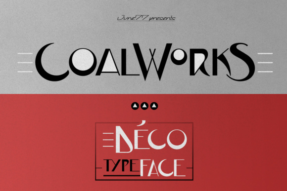 Print on Demand: JVNE CoalWorks Display Font By Jvne77