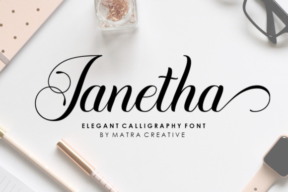 Print on Demand: Janetha Script & Handwritten Font By Matra Creative
