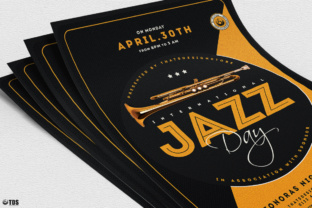 Jazz Day Flyer Template Graphic By ThatsDesignStore