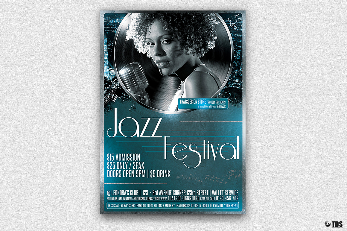 Azure Flyer Template | Jazzy Fest Flyer Template Graphic By Thatsdesignstore Creative Fabrica