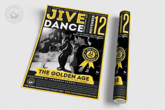 Jive Dance Flyer Template Graphic Print Templates By ThatsDesignStore - Image 3
