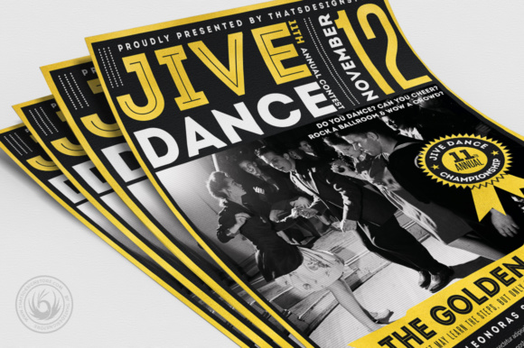 Jive Dance Flyer Template Graphic Print Templates By ThatsDesignStore - Image 5