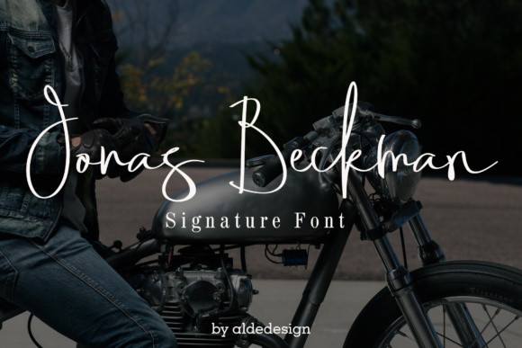 Print on Demand: Jonas Beckman Script & Handwritten Font By aldedesign