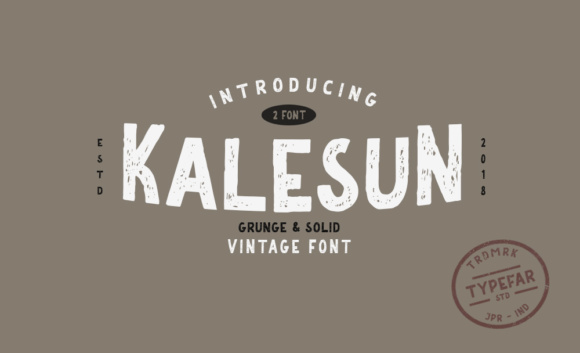 Print on Demand: Kalesun Sans Serif Font By Typefar