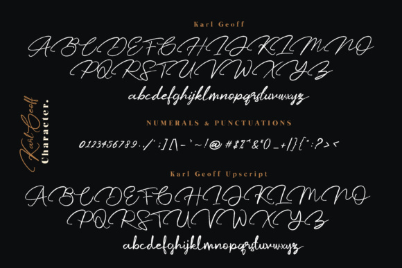 Print on Demand: Karl Geoff Script & Handwritten Font By Mas Anis - Image 11