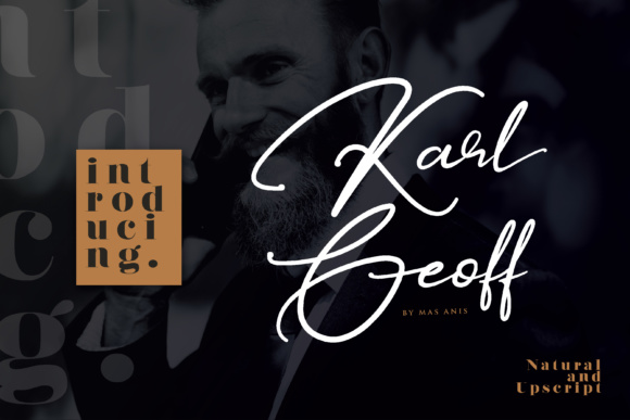 Print on Demand: Karl Geoff Script & Handwritten Font By Mas Anis