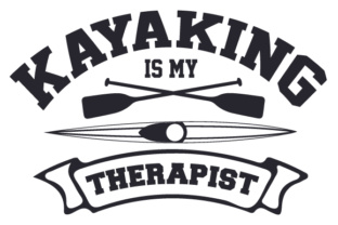 Kayaking is My Therapist Sports Craft Cut File By Creative Fabrica Crafts