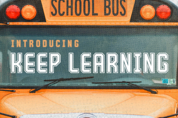 Print on Demand: Keep Learning Display Font By Silhouette America, Inc. - Image 1