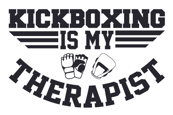 Download Free Kickboxing Is My Therapist Svg Cut File By Creative Fabrica for Cricut Explore, Silhouette and other cutting machines.