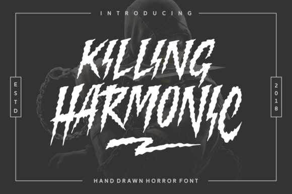 Print on Demand: Killing Harmonic Display Font By Keithzo (7NTypes)