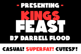 Print on Demand: Kings Feast Sans Serif Font By Dadiomouse