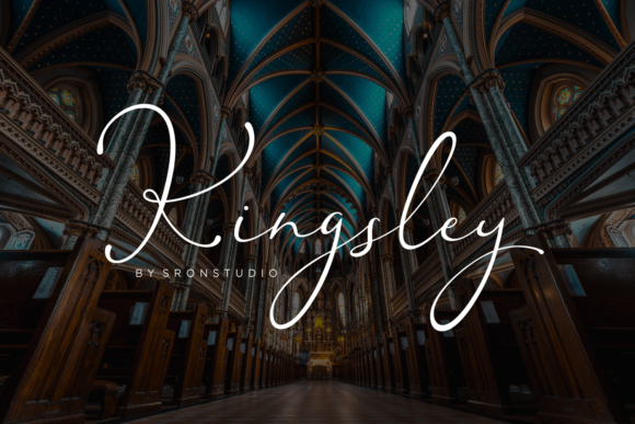 Print on Demand: Kingsley Script & Handwritten Font By Sronstudio
