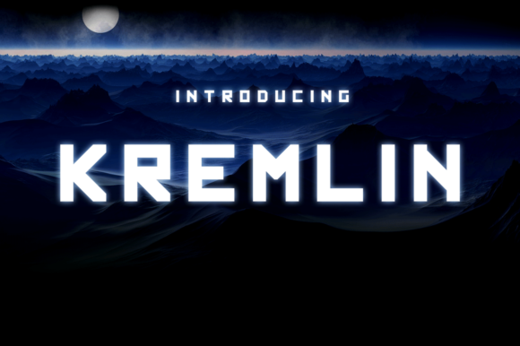 Print on Demand: Kremlin Display Font By Typodermic