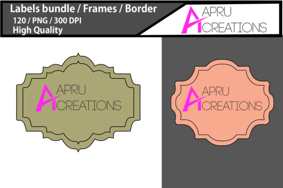 Download Free Label Frames Clipart Label High Quality 120 Frames Borders for Cricut Explore, Silhouette and other cutting machines.