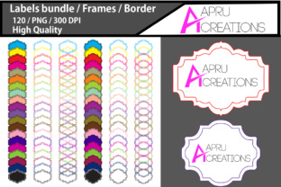 Label Frames Clipart / Label High Quality 120 / Frames / Borders / Printable High Quality Designs / Hand Drawn Frames Graphic By aparnastjp