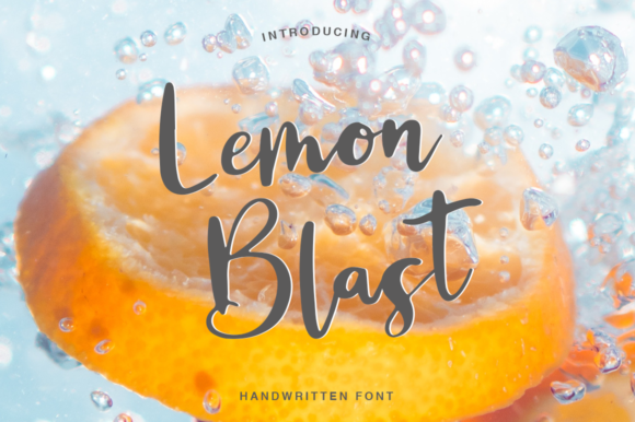 Print on Demand: Lemon Blast Script & Handwritten Font By Pasha Larin