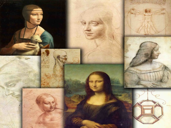 Print on Demand: Leonardo Da Vinci Illustrations Graphic Backgrounds By retrowalldecor