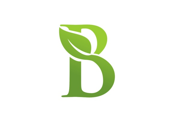 Letter B Leaf Nature Logo Graphic Graphic Templates By DEEMKA STUDIO