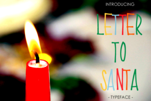 Print on Demand: Letter to Santa Sans Serif Font By yh.seaofknowledge