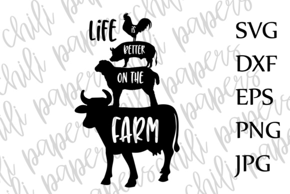 Download Free Life Is Better On The Farm Svg Farm Animals Svg Cricut Svg Files SVG Cut Files