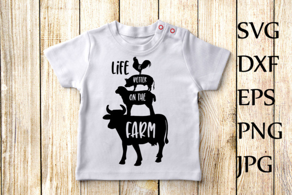 Download Free Life Is Better On The Farm Svg Farm Animals Svg Cricut Svg Files for Cricut Explore, Silhouette and other cutting machines.