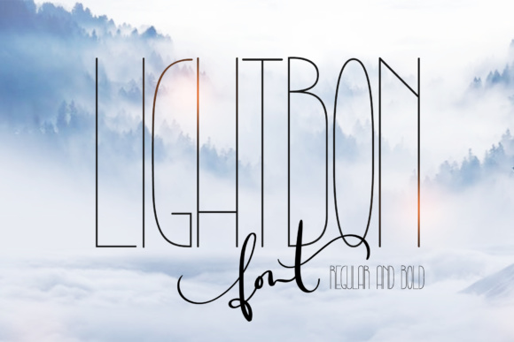 Print on Demand: Lightbon Sans Serif Font By Happy Letters