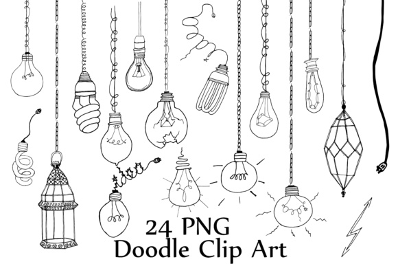 Lightbulb Doodle Clipart Graphic Illustrations By ChiliPapers