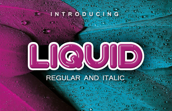 Print on Demand: Liquid Display Font By vladimirnikolic