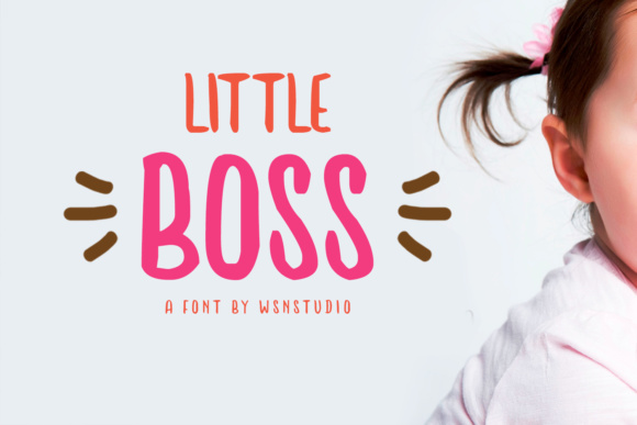 Print on Demand: Little Boss Display Font By MLKWSN studio
