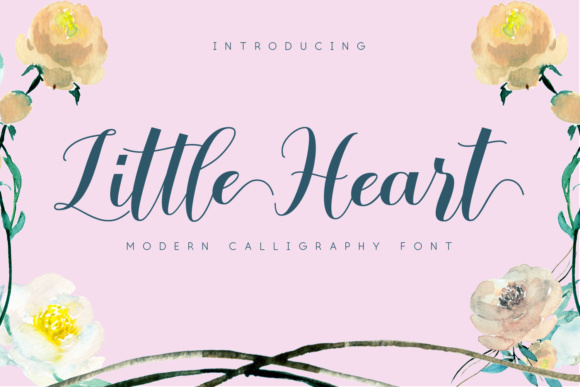 Print on Demand: Little Heart Script & Handwritten Font By Bluestudio