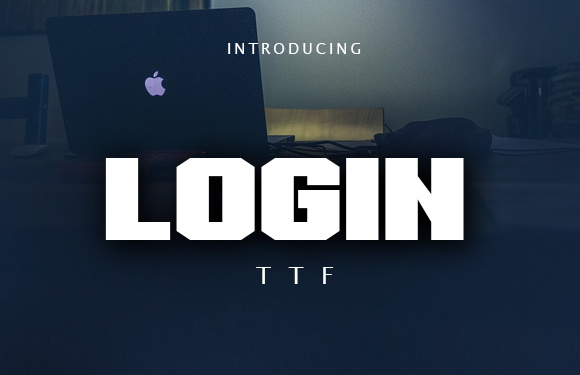Print on Demand: Login Display Font By vladimirnikolic - Image 1